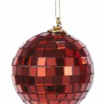 "3ct Red Glitter Sequin Beaded Shatterproof Christmas Onion Ornaments 4"" (100mm)"