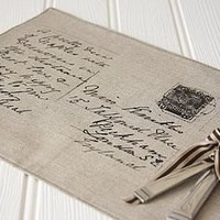 postcard placemat by lucie pritchard | notonthehighstreet.com