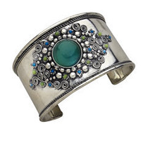 Handmade Bedazzled Bead Cuff Bracelet from India  || Fair Trade Handicrafts from Ten Thousand Villages