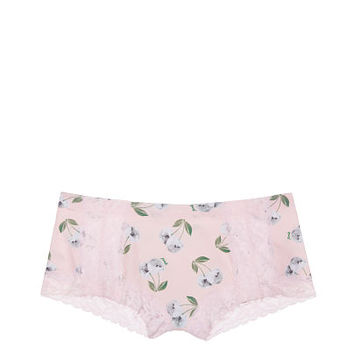 Lace Trim Boyshort - PINK - Victoria's Secret