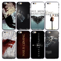 hot retail game of throne plastic Hard phone cases for iphone 6 case 6s plus +freeshipping