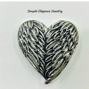 Large Angel Wings Snap Charm 26mm for Snap Jewelry (Will fit 20mm Base)