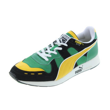 Puma Mens RS100 Brazil Leather Colorblock Athletic Shoes