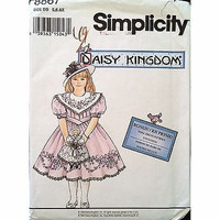 Childs Dress Doll Clothes Simplicity 8867 Pattern Vintage 1994 Size 5-6X C1164