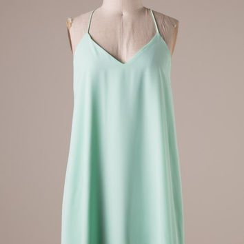 Mint Racer Back Dress