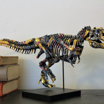 T rex Faux Taxidermy Fossil Dispay