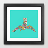 air kitten turquoise Framed Art Print by Sharon Turner