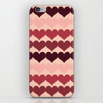 Hearts iPhone & iPod Skin by Colourstorm | Society6