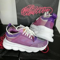 Versace Fashion Purple Casual Women Men Sneakers Sport Shoes