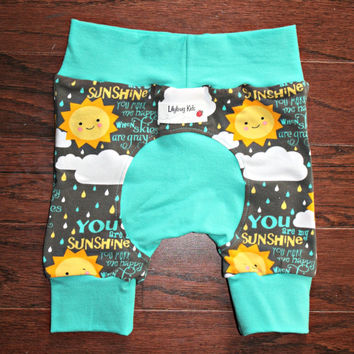 Miniloones shorts You are My Sunshine, Shortiloones fit 3-12 months, Maxaloones brand