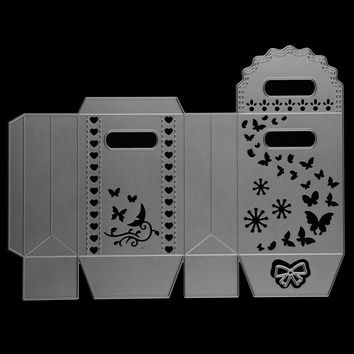 Butterfly Nice Gift Box Package Metal Cutting Dies Stencils for DIY Scrapbook Album Paper Card Embossing Craft