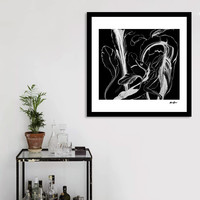 «Caribbean Succulent White on Black», Numbered Edition Fine Art Print by Alicia Jones - From $20 - Curioos