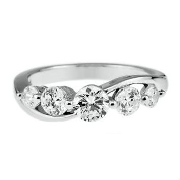 Diamonvita® 1 ct. tw. Simulated Diamond Ring in Sterling Silver - Diamonvita Rings - Diamonvita - Collections - Helzberg Diamonds