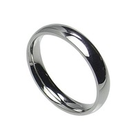5mm Stainless Steel Comfort Fit Plain Wedding Band Ring Size 5-13
