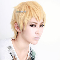 DMMD / Dramatical Murder Noiz short pastel blonde layers cosplay wig