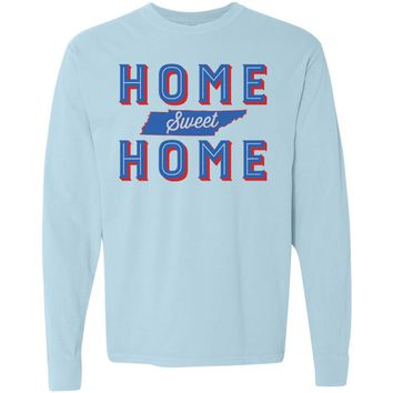Adult Home Sweet Home on a Long Sleeve Chambray T-Shirt