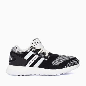 Pure Boost ZG Knit sneakers from S/S2016 Y-3 by Yohji Yamamoto collection in black and white