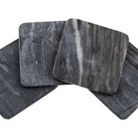 Gray Marble Coasters, Set of 4, Coasters