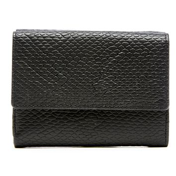 Genuine Leather Trifold Wallet With Coin Purse