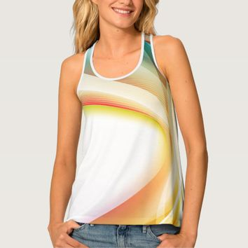 Abstract Swirl 2 Tank Top