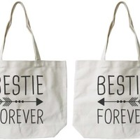 Bestie Forever BFF Canvas Bags - 365 Printing Inc