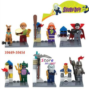 60pcs starwars super heroes marvel Scooby Doo Fred/Shaggy building blocks bricks hobby interesting toys for kids speelgoed