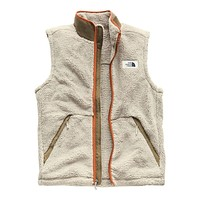 Men's Campshire Sherpa Vest in Granite Bluff Tan & Botanical Garden Green by The North Face - FINAL SALE