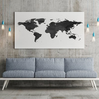 World Map Poster Watercolor Print World Map Art World Map Wanderlust Travel Poster Map of World World Map Digital Wall Art Watercolor Map