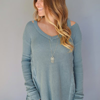 Aspen Cutout Sweater Sage