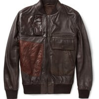 Maison Martin Margiela Patchwork Leather Bomber Jacket | MR PORTER