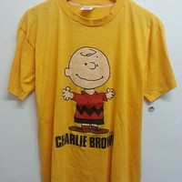 Vintage 1980s CHARLIE Brown Peanuts Soft Thin Artex TShirt