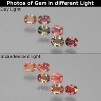 1.07 ct (total) Oval Facet Multicolor Color-Change Sapphire 3.9 x 3.1 mm