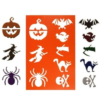 Witch pumpkin spider Scrapbook Stamp DIY Tools Photo Album Card Masking Spray Stencil For Walls Painting Embossing Paper Crafts