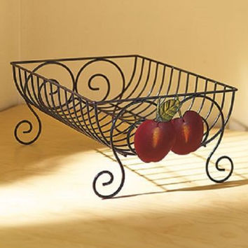 Country Kitchen Decor Dish Rack Iron Apple Farmhouse Rustic Primitive NEW
