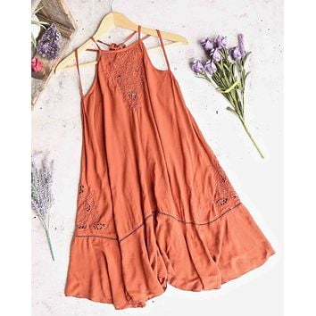 free people - heat wave tunic dress - terracotta