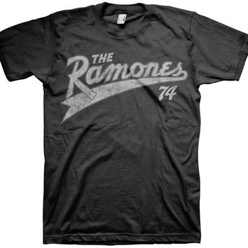 THE RAMONES - TEAM RAMONES 74 MENS TEE