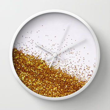 My Favorite Color II (NOT REAL GLITTER) Wall Clock by Galaxy Eyes