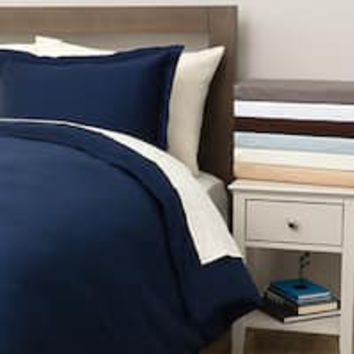 Duvet Cover Nightfall Navy Supersoft Bedding | Overstock.com Shopping - The Best Deals on Duvet Covers