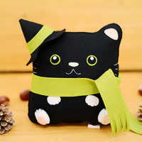 "October night ""Bewitched Cat"" Pillow Plush doll"