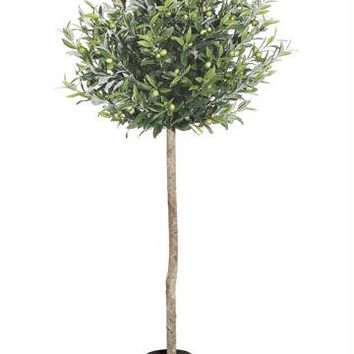 2 Artificial Potted Trees - Olive