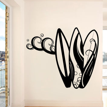 Vinyl Wall Decal Sticker Surf Boards #1063