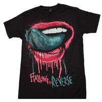 Falling in Reverse Lips T-Shirt - Black - Small