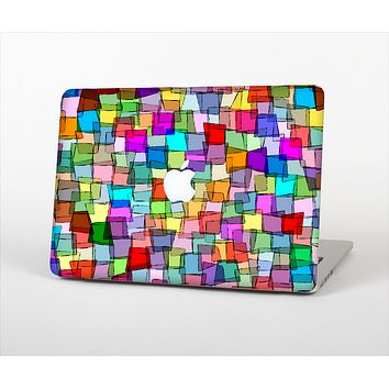 The Vibrant Colored Abstract Cubes Skin Set for the Apple MacBook Pro 13""