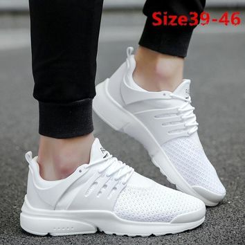New Arrival Men's Fashion Breathable Sneaker Casual Flat Light Running Sport Shoes Mesh Platform Shoes
