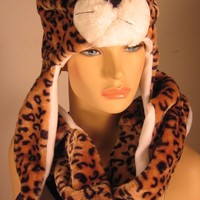 Cheetah Plush Hat