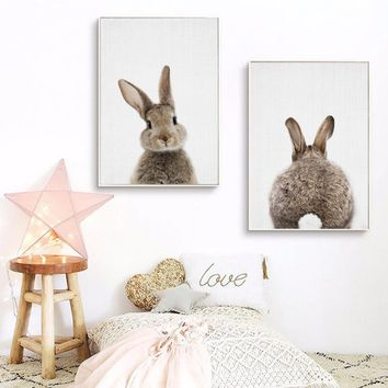 Kawaii Animals Nordic Style Poster Collection