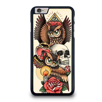 OWL STEAMPUNK ILLUMINATI TATTOO iPhone 6 / 6S Plus Case Cover