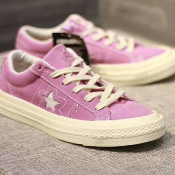 Converse One Star Women Men Couples Sneakers Leisure shoes Sneaker Sport Shoes Purple I-CSXY