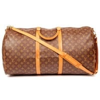 Louis Vuitton Keepall Bandouliere 60 with Strap Brown Monogram 5631