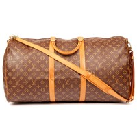 Louis Vuitton Keepall Bandouliere 60 with Strap Brown Monogram 5631 Authentic Pre-owned)